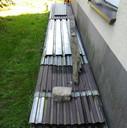 Transport blachy po remoncie dachu